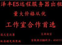 全新E5远程服务器出租